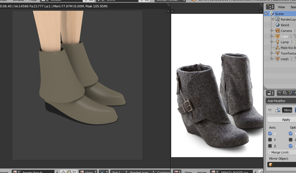 Boots WIP 1 by Sefina-NZ