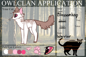 Warrior-Cats-Rise Application to Owlclan by ThisAccountIsDead462