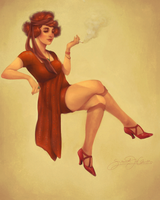 1920s Pin-Up Girl (2011) by dwightyoakamfan