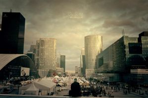 Grande Arche de la Fraternite---Paris by giosolARTE