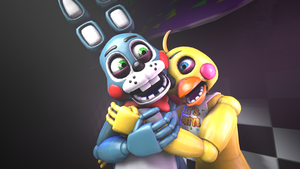 (SFM-FNAF) Toy Bonnie X Toy Chica by PFT-Production