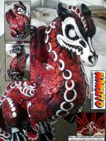 Naruto 6 Tail JinchuuriKeeper OOAK by drag0nfeathers