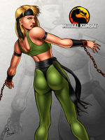 Sonya Blade chained by ZabZarock