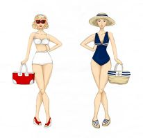 Beach Ladies by Ninelyn