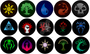 Magic The Gathering Buttons by EtuxDraconis