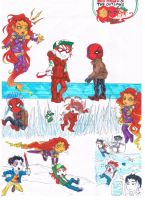 Red Hood and The Outlaws Chibis RAW by AimiisLoveBeautiful