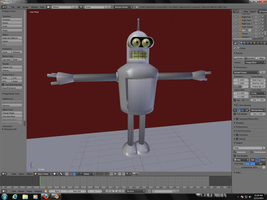 Blender Projects: Bender (WIP) by FlaminKitsune