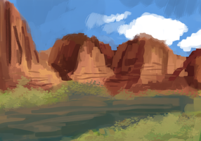 Canyon speedpaint 7 by Magicpawed