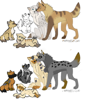 wolf adopts. by poisonflame
