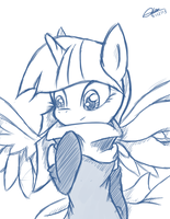 Scarf Sketch by MrAsianhappydude