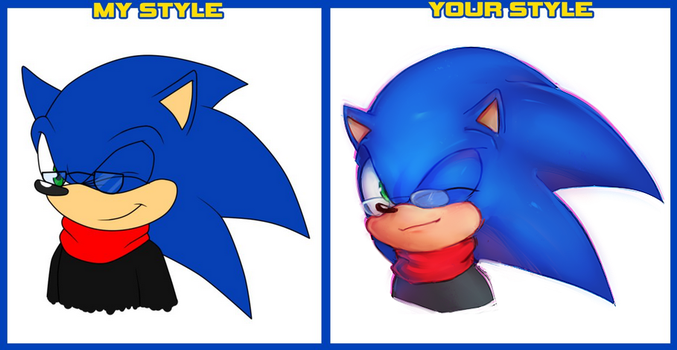 Sonic Style Meme by panafal