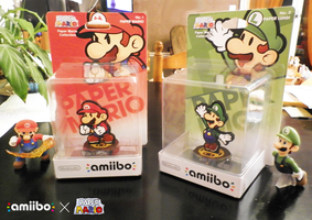 Amiibo Custom - Paper Mario and Paper Luigi by NBros