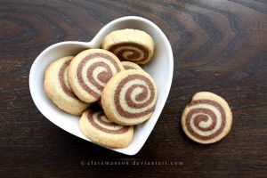 Chocolate Pinwheel Cookies by claremanson