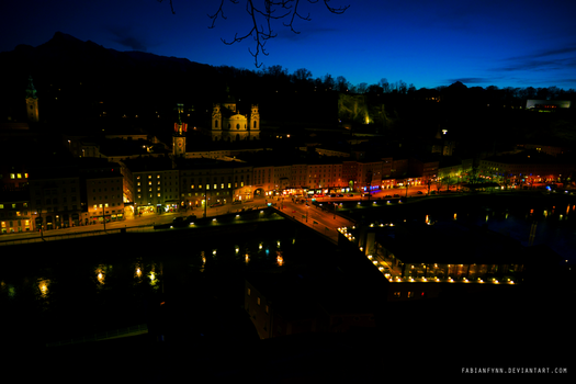 Salzburg At Night by FabianFynn