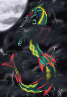 Glowy Rayquaza Digital by Inudoragon23