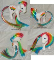 Gay Pride Rainbow Custom My Little Pony 2 by mayanbutterfly
