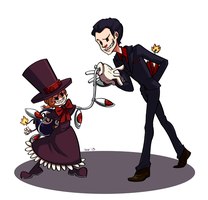 Commission: Peacock and Albert by Izuma