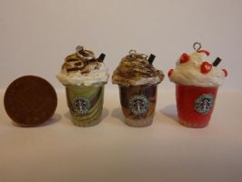 Fimo Starbucks Frappuccinos by ImagenedRose