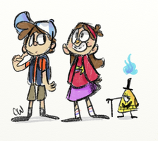 Gravity Falls sketches by cartoonwho