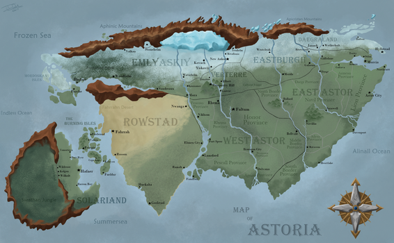 Map of Astoria (second version) by joshuad17