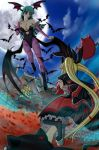 Rachel vs Morrigan by Artemisumi
