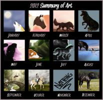 2012 Summary of Art by Nellaahh
