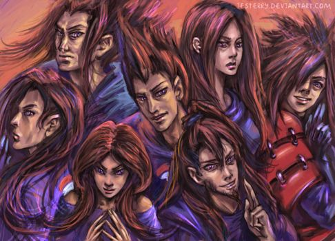 Six paths of Madara by jesterry