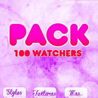 +PACK 100 WATCHERS by Jeyra83