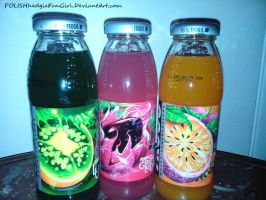 =Neon fruit drinks= by POLISHhedgieFanGirl