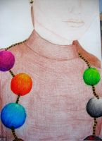 Girl with a wool necklace by AWArija
