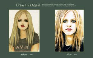 Draw this Again Challenge : Avril Lavigne I by ctMunirah