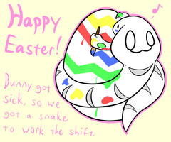 Easter Snake by DeathToSquishies