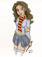 Hermione Granger pinup by beckadoodles