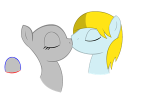 [COLLAB] Hearts and Hooves day kiss by LR-Studios