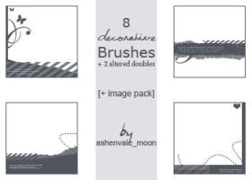 Decorative Brush Set by ashenvale-moon