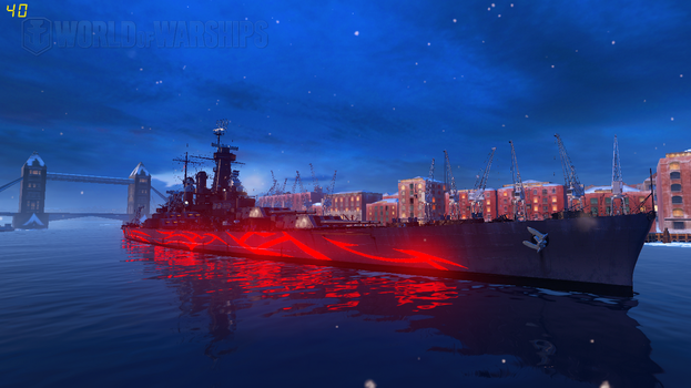 WoWS Fleet of Fog USS North Carolina by Scattergunsniper