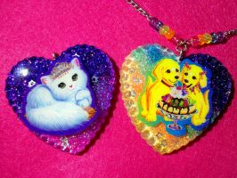 Lisa Frank Resin Pendants by TashaAkaTachi