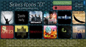 TV Series Icons D by g-Vita