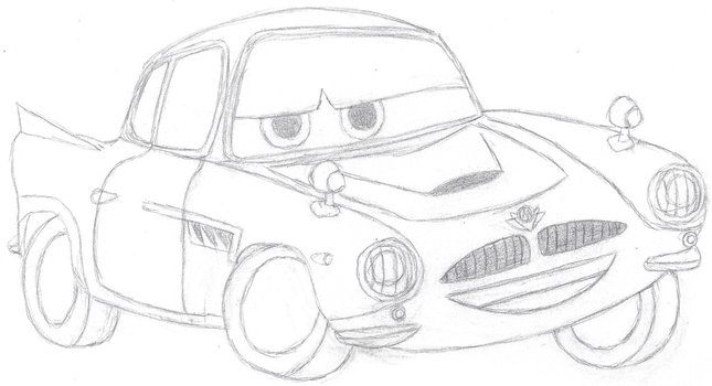 Cars: Finn McMissile Sketch by Bowser-The-Second