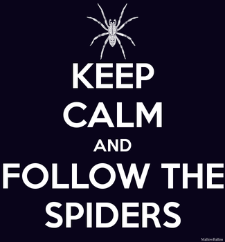 Keep Calm And Follow The Spiders by Mallowballon