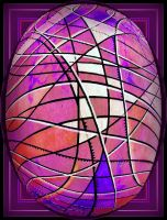 purple psyche egg with white by santosam81