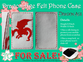 Dragon Age Felt Phone Case by TealCreations