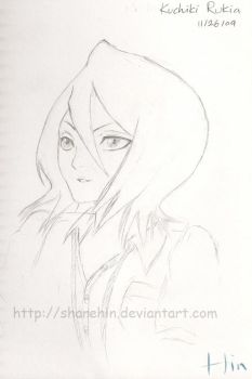 Kuchiki Rukia Sketch 01 by sharehin
