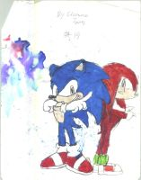 sonic and knuckles by juicethehedgehog