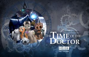 Time Of The Doctor (Whooves Xmas Wallpaper) DARK by sitrirokoia