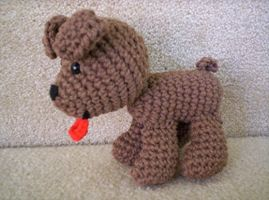 Boney the Crochet Dog by BunnieBard