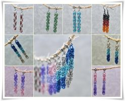 Colors In Chains - earrings by Jezerel