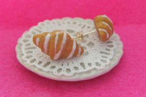 Iced Croissant Earrings by Rotting-Soul