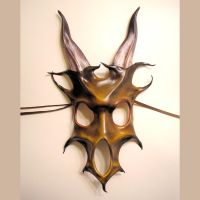 Beast Skull Leather Mask by teonova