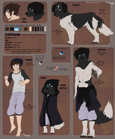 Kohin ref sheet by aziria
